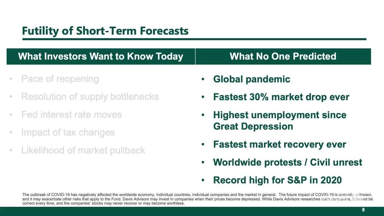 Why Investors Should Disregard Short-Term Forecasts